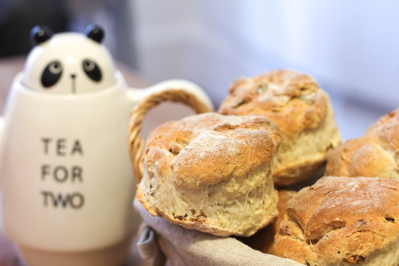 Tea time: homemade Irish fruit scones