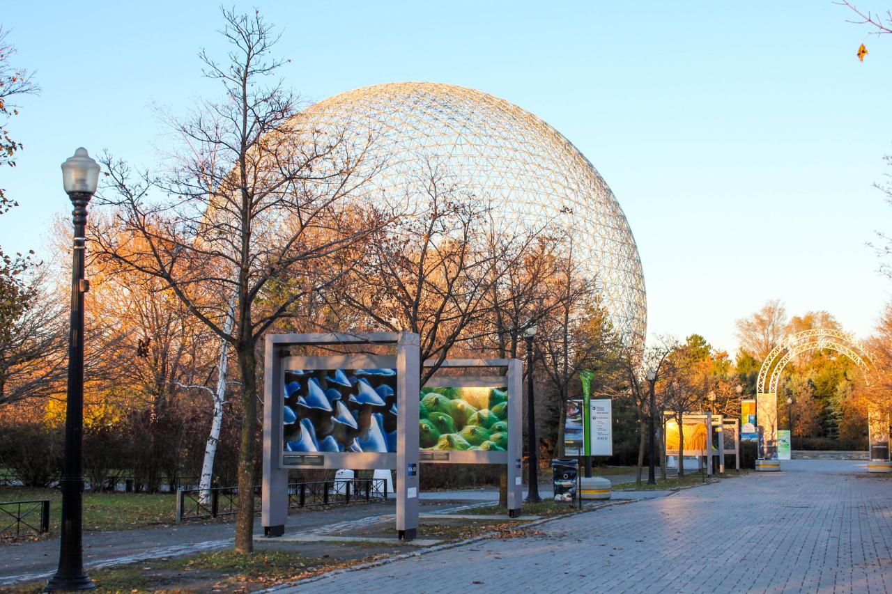 Coucher de soleil vu du Parc Jean-Drapeau – Montréal, QC, Canada